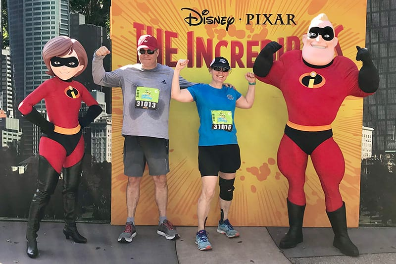 Photo of Greg and Lynn Gaumer at The Incredibles photo opt