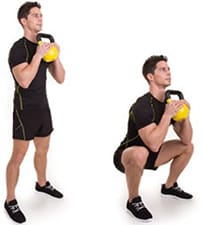 Person performing a deep squat