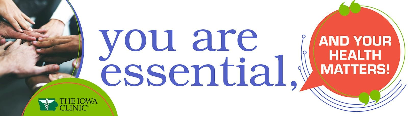 You are essential, and your health matters