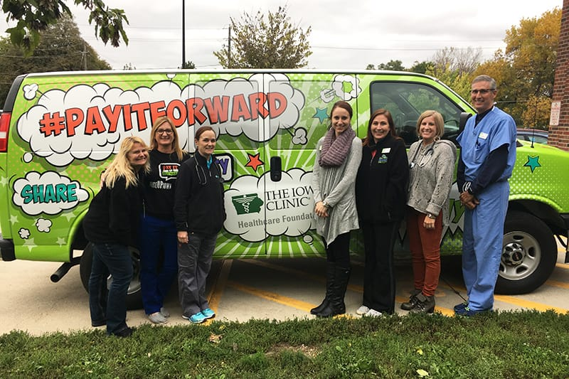 Paying It Forward (photo of Foundation Van)