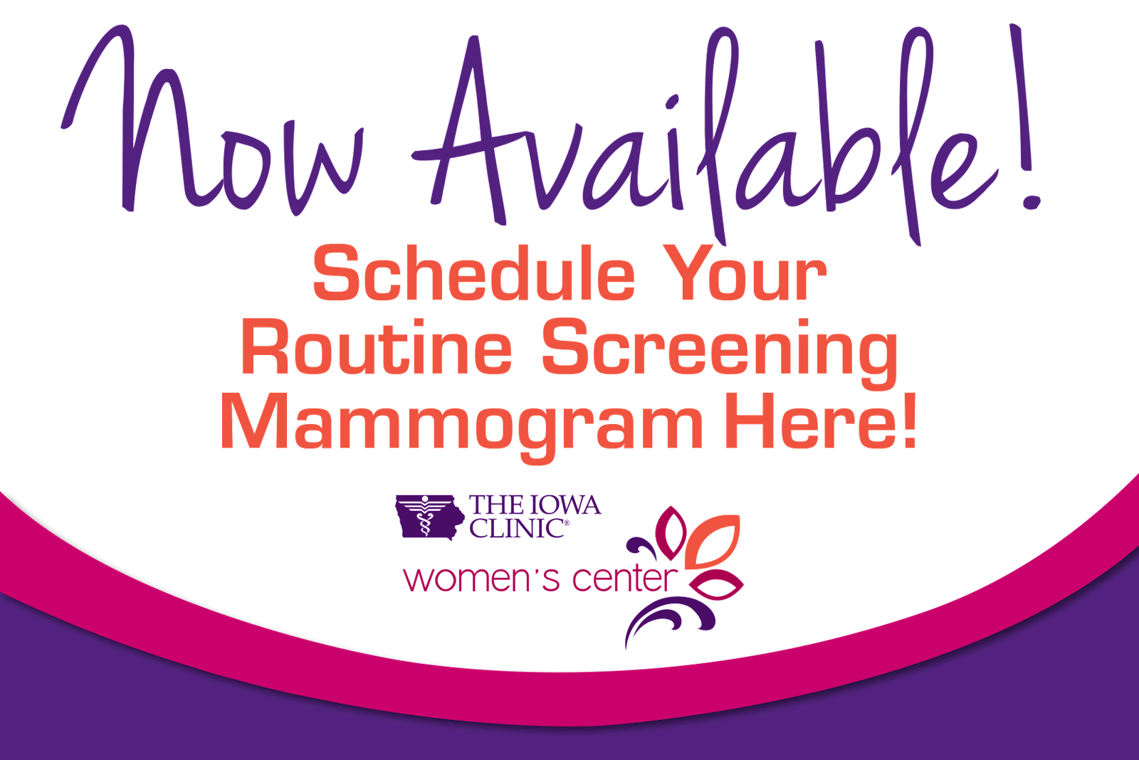 Schedule your routine mammogram online with The Iowa Clinic